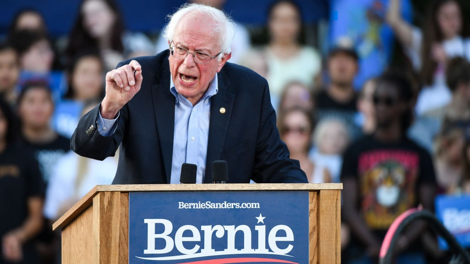 Democratic presidential candidate Sen. Bernie Sanders (I-VT) speaks to supporters at a rally at Civic Center Park on September 9, 2019 in Denver, Colorado.