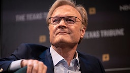 MSNBC's Lawrence O'Donnell smiles after making a joke during a panel at The Texas Tribune Festival on September 28, 2019 in Austin, Texas.