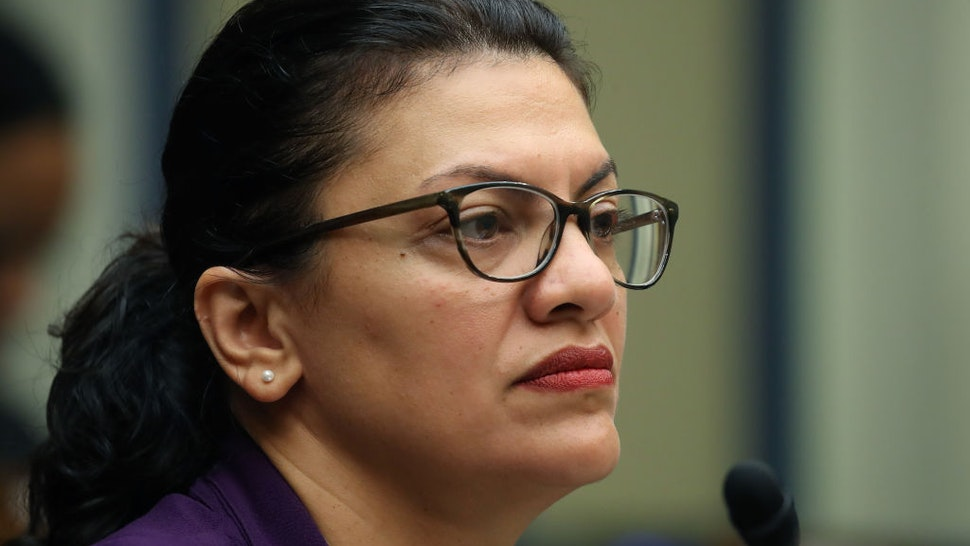 Rep. Rashida Tlaib (D-MI) participates in a House Oversight and Reform Sub-Committee hearing on Capitol Hill, September 24, 2019 in Washington, DC.