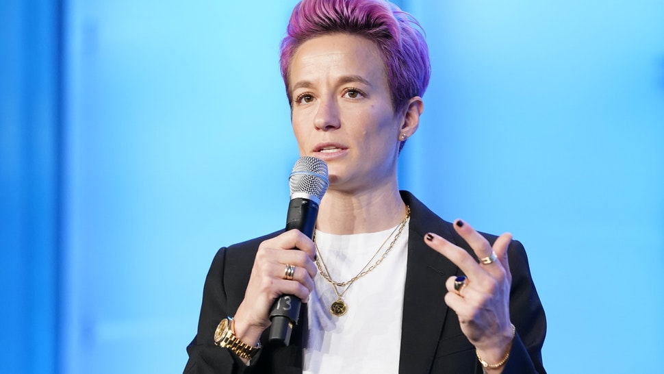 AUSTIN, TEXAS - OCTOBER 24: Two-time World Cup Champion, and co-captain of the US Women's National Team Megan Rapinoe speaks on stage during Texas Conference For Women 2019 at Austin Convention Center on October 24, 2019 in Austin, Texas. (Photo by Marla Aufmuth/Getty Images for Texas Conference for Women 2019)