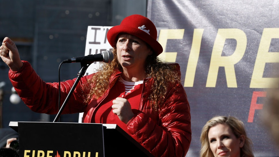 "Abigail Disney speaks during ""Fire Drill Friday"" climate change protest on November 15, 2019 in Washington, DC."