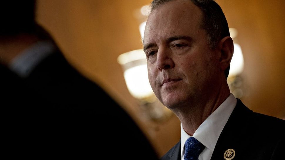 Representative Adam Schiff, a Democrat from California and chairman of the House Intelligence Committee, listens during a news conference after the House voted on articles of impeachment against President Donald Trump at the U.S. Capitol in Washington, D.C., U.S., on Wednesday, Dec. 18, 2019.