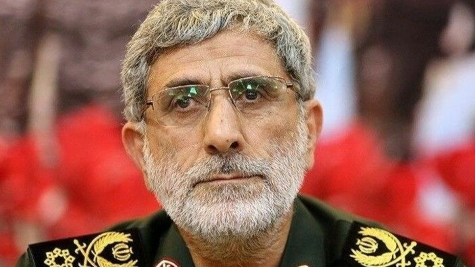 A handout photo shows Ismail Qaani after he has been appointed as commander of the Iranian Revolutionary Guards' Quds Forces after a drone strike near Baghdad International Airport killed Qasem Soleimani, on January 3, 2020 in Tehran, Iran.