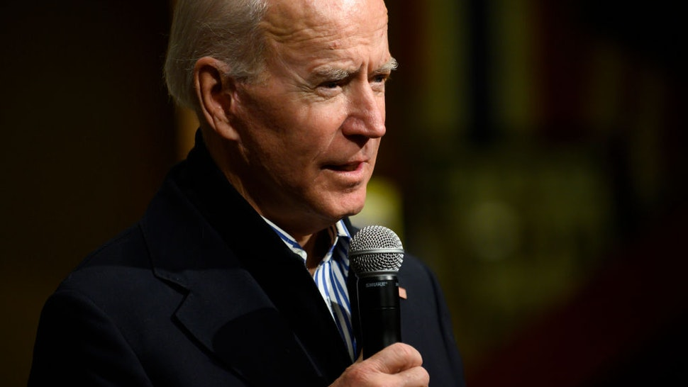 Democratic presidential candidate, former Vice President Joe Biden, speaks during a campaign event on January 3, 2020 in Independence, Iowa.