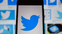 POLAND - 2020/01/06: In this photo illustration a Twitter logo seen displayed on a smartphone.