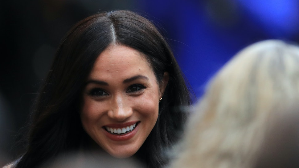 The Duchess of Sussex arriving for her visit to Canada House, central London, to meet with Canada's High Commissioner to the UK, Janice Charette, as well as staff, to thank them for the warm hospitality and support they received during their recent stay in Canada. (Photo by Aaron Chown/PA Images via Getty Images)