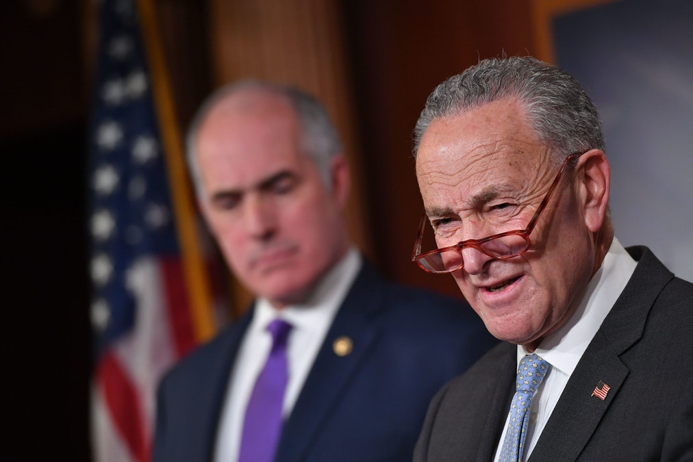 Chuck Schumer Pivots From Impeachment, Assails President Trump Over Social Security