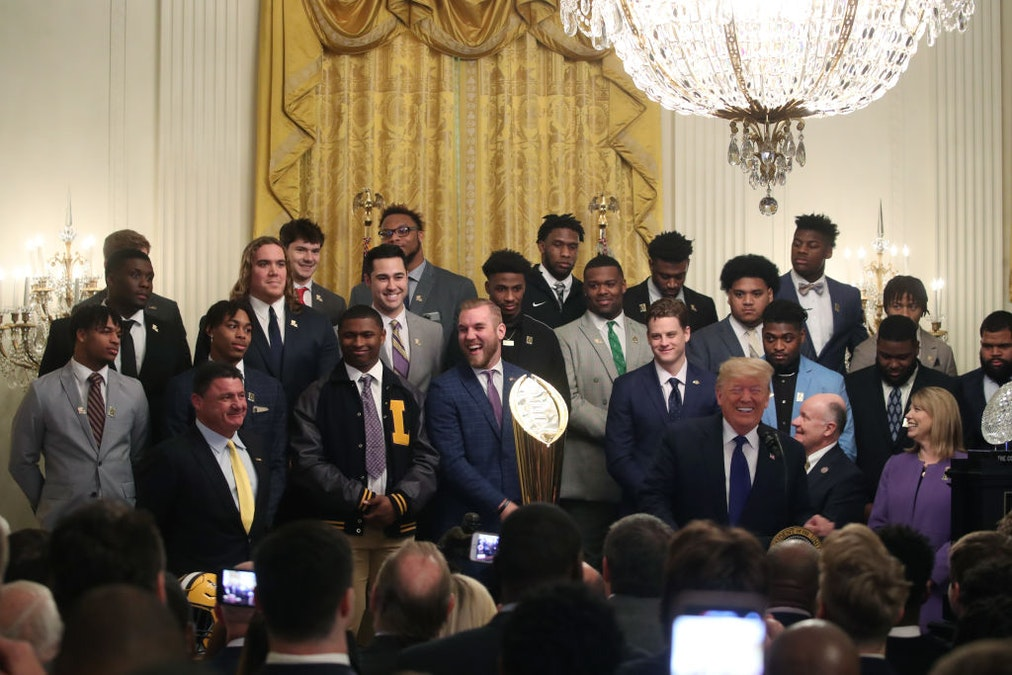 WATCH: Trump Has Hilarious Time Welcoming LSU Football Team To White House
