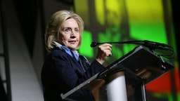 Former U.S. Secretary of State and U.S. Senator, Hillary Rodham Clinton speaks onstage during the 2020 Women at Sundance Celebration hosted by Sundance Institute and Refinery29.