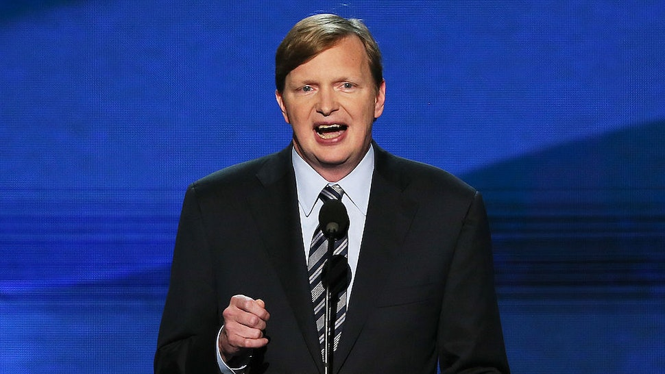 Campaign Manager, Obama for America Jim Messina speaks on stage during the final day of the Democratic National Convention at Time Warner Cable Arena on September 6, 2012 in Charlotte, North Carolina.