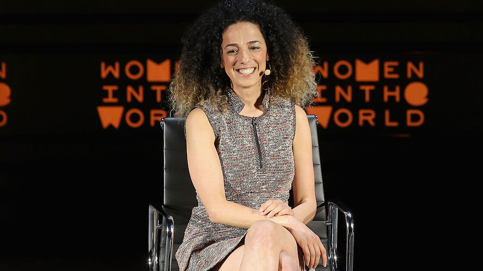 Journalist Masih Alinejad speaks onstage at My Stealthy Freedom during Tina Brown's 7th Annual Women In The World Summit at David H. Koch Theater at Lincoln Center on April 7, 2016 in New York City.