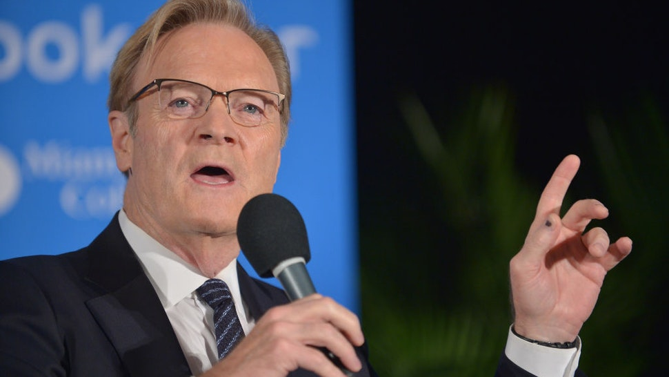 Host of The Last Word on MSNBC Lawrence O'Donnell attends The Miami Book Fair at Miami Dade College Wolfson - Chapman Conference Center on November 13, 2017 in Miami, Florida.