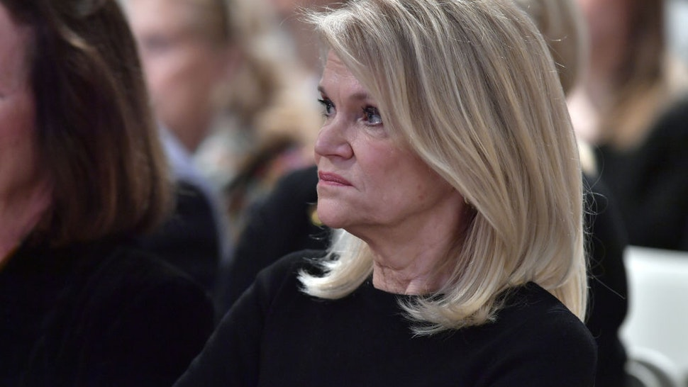 Martha Raddatz receives the Goldsmith Career Award for Excellence in Journalism at Harvard University' Shorenstein Center on Media, Politics and Public Policy on March 6, 2018 in Cambridge, Massachusetts.