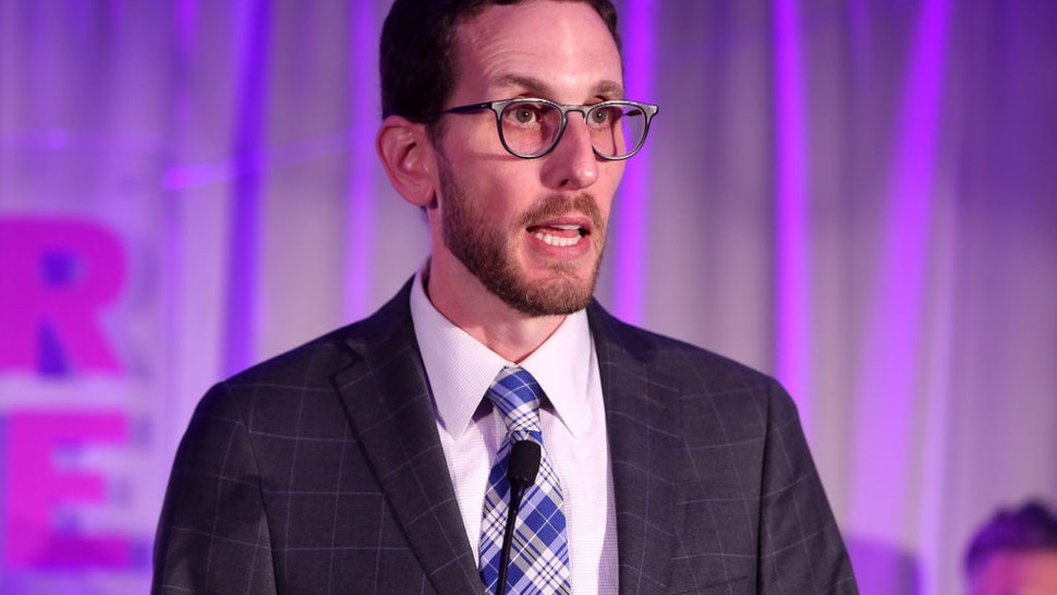 Senator Scott Wiener speaks at the Lambda Legal 2018 West Coast Liberty Awards at the SLS Hotel on June 7, 2018 in Beverly Hills, California.