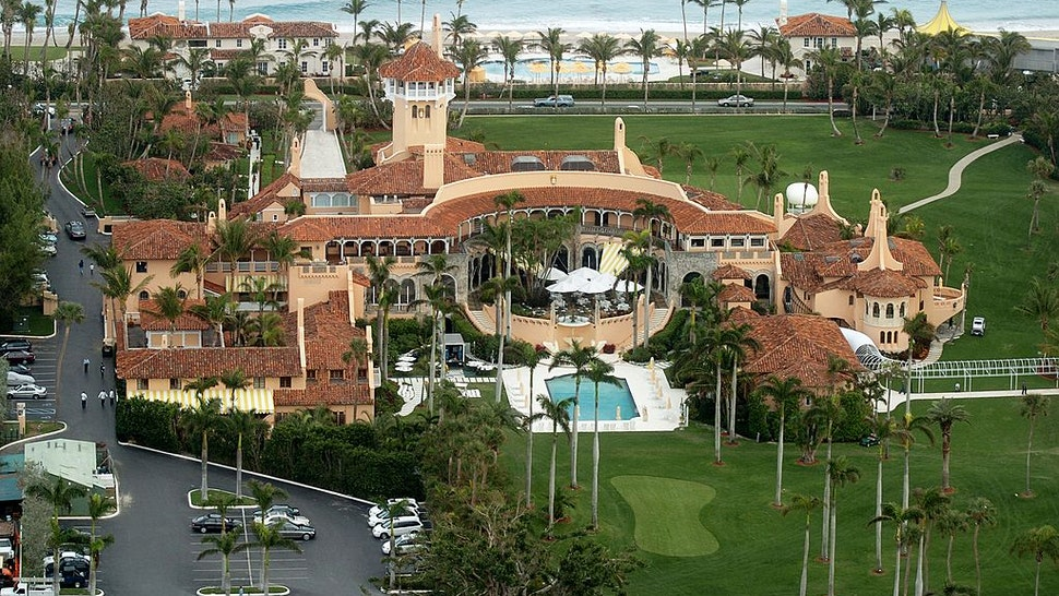 Aerial view of Mar-a-Lago, the estate of Donald Trump, in Palm Beach, Fla.