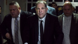 NEW YORK, NY - JANUARY 06: Harvey Weinstein walks away from the courtroom in New York City criminal court on January 6, 2020 in New York City. Weinstein, a movie producer whose alleged sexual misconduct helped spark the #MeToo movement, pleaded not-guilty on five counts of rape and sexual assault against two unnamed women and faces a possible life sentence in prison.