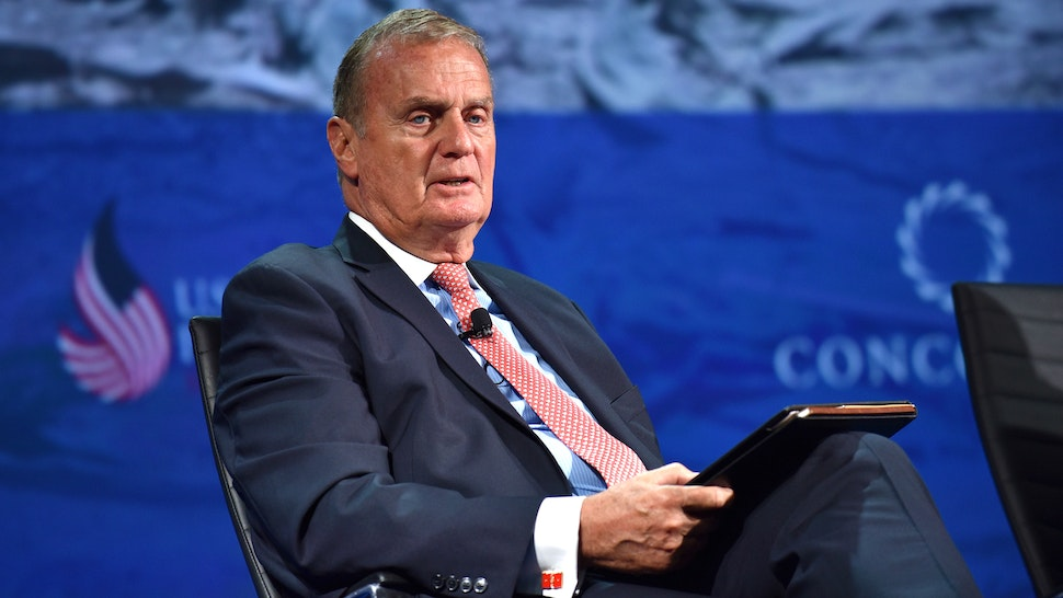 NEW YORK, NY - SEPTEMBER 19: CEO and founder, Jones Group International James L. Jones speaks at the 2016 Concordia Summit - Day 1 at Grand Hyatt New York on September 19, 2016 in New York City.