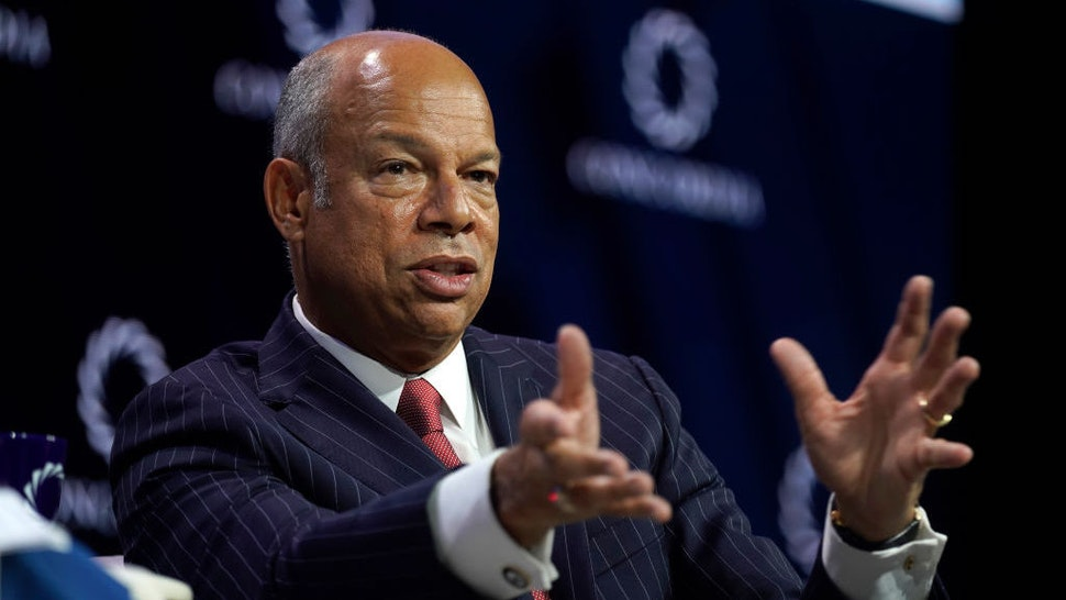 Jeh Johnson, Former Secretary, U.S. Department of Homeland Security, speaks onstage during the 2019 Concordia Annual Summit - Day 2 at Grand Hyatt New York on September 24, 2019 in New York City. (Photo by Riccardo Savi/Getty Images for Concordia Summit)