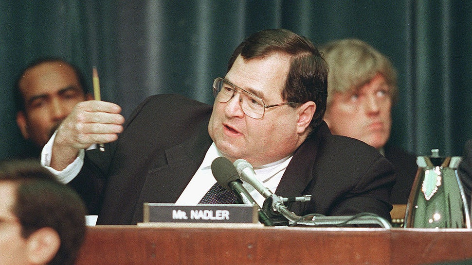 Jerrold Nadler,D-N.Y.,makes his opening statement during House Judiciary Committee hearing regarding articles of impeachment against President Bill Clinton. (Photo by Douglas Graham/Congressional Quarterly/Getty Images)