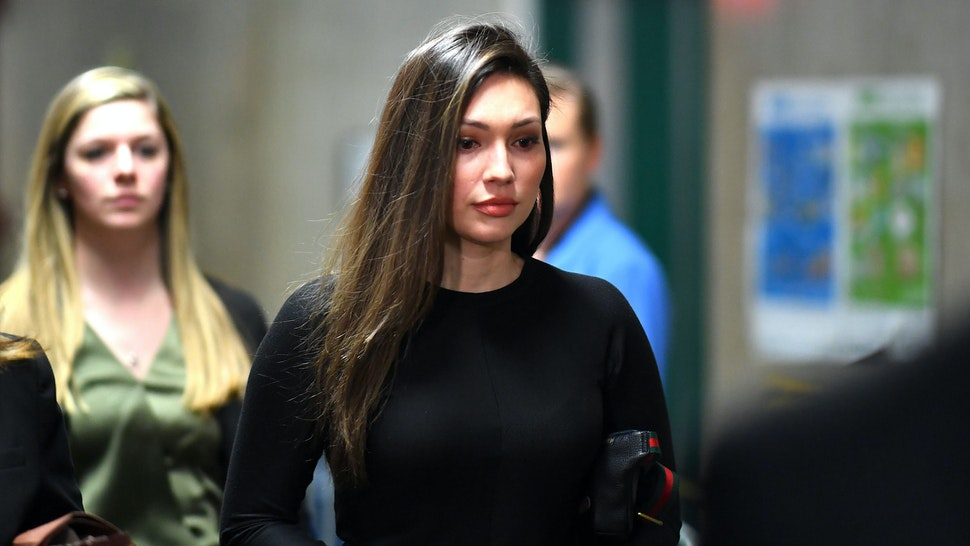 Former Actress Jessica Mann arrives for the trial of Harvey Weinstein at the Manhattan Criminal Court, on January 31, 2020 in New York City.