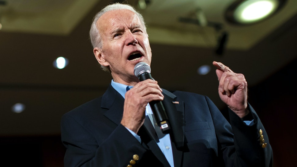 Former U.S. Vice President Joe Biden, 2020 Democratic presidential candidate, speaks during a campaign event in Iowa City, Iowa, U.S., on Monday, Jan. 27, 2020. Biden holds a sizable lead nationally, but many polls show Democrats in the early-voting states favor Bernie Sanders, which could spark the Vermont senator's campaign for the contests ahead.