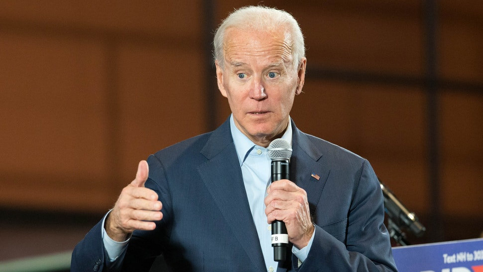 Democratic presidential candidate, former Vice President Joe Biden speaks during a campaign Town Hall on December 30, 2019 in Derry, New Hampshire. The 2020 Iowa Democratic caucuses will take place on February 3, 2020, making it the first nominating contest for the Democratic Party in choosing their presidential candidate to face Donald Trump in the 2020 election.