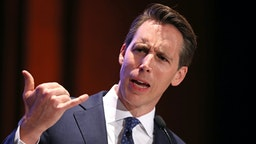 WASHINGTON, DC - JUNE 27: Sen. Josh Hawley (R-MO) addresses the Faith and Freedom Coalition's Road to Majority Policy Conference at the U.S. Capitol Visitor's Center Auditorium June 27, 2019 in Washington, DC. Created as a bridge between conservative Tea Party movement and evangelical voters, the Faith and Freedom Coalition was founded by Christian conservative activist Ralph Reed in 2009.