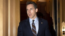 OCTOBER 29: Sen. Josh Hawley, R-Mo., makes his way to the Senate Republicans lunch in the Capitol on Tuesday Oct. 29, 2019.