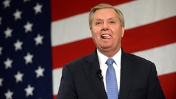 NASHUA, NH - APRIL 18: U.S. Sen. Lindsay Graham (R-SC) speaks at the First in the Nation Republican Leadership Summit April 18, 2015 in Nashua, New Hampshire. The Summit brought together local and national Republicans and was attended by all the Republicans candidates as well as those eyeing a run for the nomination.