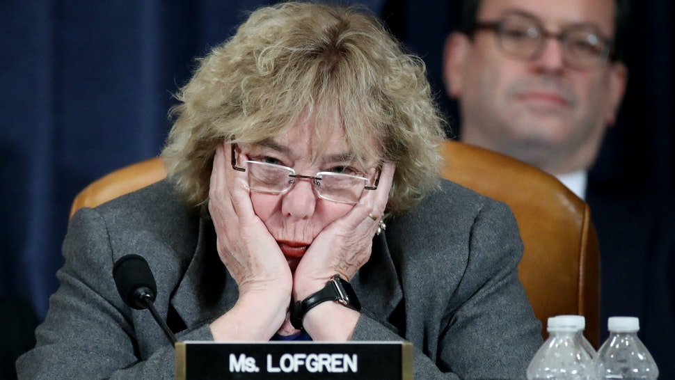 WASHINGTON, DC - DECEMBER 04: Rep. Zoe Lofgren (D-CA) listens as constitutional scholars testify before the House Judiciary Committee in the Longworth House Office Building on Capitol Hill December 4, 2019 in Washington, DC. This is the first hearing held by the House Judiciary Committee in the impeachment inquiry against U.S. President Donald Trump, whom House Democrats say held back military aid for Ukraine while demanding it investigate his political rivals. The Judiciary Committee will decide whether to draft official articles of impeachment against President Trump to be voted on by the full House of Representatives.