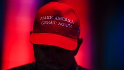 DENVER, CO - JULY 12: Kim McGahey wears a MAGA hat during the Western Conservative Summit on Friday, July 12, 2019.