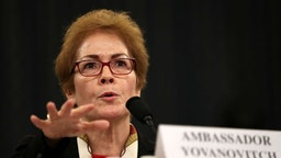 Former U.S. Ambassador to Ukraine Marie Yovanovitch testifies before the House Intelligence Committee in the Longworth House Office Building on Capitol Hill November 15, 2019 in Washington, DC. In the second impeachment hearing held by the committee, House Democrats continue to build a case against U.S. President Donald Trump's efforts to link U.S. military aid for Ukraine to the nation's investigation of his political rivals. (Photo by Drew Angerer/Getty Images)