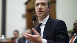 WASHINGTON, DC - OCTOBER 23: Facebook co-founder and CEO Mark Zuckerberg testifies before the House Financial Services Committee in the Rayburn House Office Building on Capitol Hill October 23, 2019 in Washington, DC. Zuckerberg testified about Facebook's proposed cryptocurrency Libra, how his company will handle false and misleading information by political leaders during the 2020 campaign and how it handles its users' data and privacy.