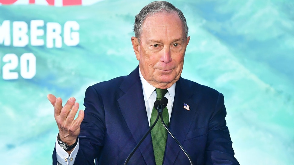 Democratic Presidential candidate Mike Bloomberg addresses his suporters at the opening of a Los Angeles field office for his presidential campaign on January 6, 2020 in Los Angeles, California.