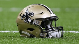 NEW ORLEANS, LOUISIANA - AUGUST 29: A New Orleans Saints helmet is pictured during an NFL preseason game at the Mercedes Benz Superdome on August 29, 2019 in New Orleans, Louisiana.