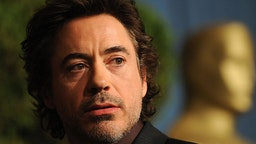 """Actor Robert Downey Jr. arrives at the Academy Awards nominee luncheon at the Beverly Hilton Hotel in Beverly Hills, California on February 2, 2009. Downey is nominated in the Best Supporting Actor category for """"Tropic Thunder."""" The 2009 Academy Awards will be presented in Hollywood on February 22, 2009. AFP PHOTO/ ROBYN BECK (Photo credit should read ROBYN BECK/AFP via Getty Images)"""