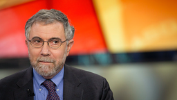 Nobel Prize-winning Economist Paul Krugman, professor of international trade and economics at Princeton University, pauses during a Bloomberg Television interview in New York, U.S., on Monday, Jan. 28, 2013.