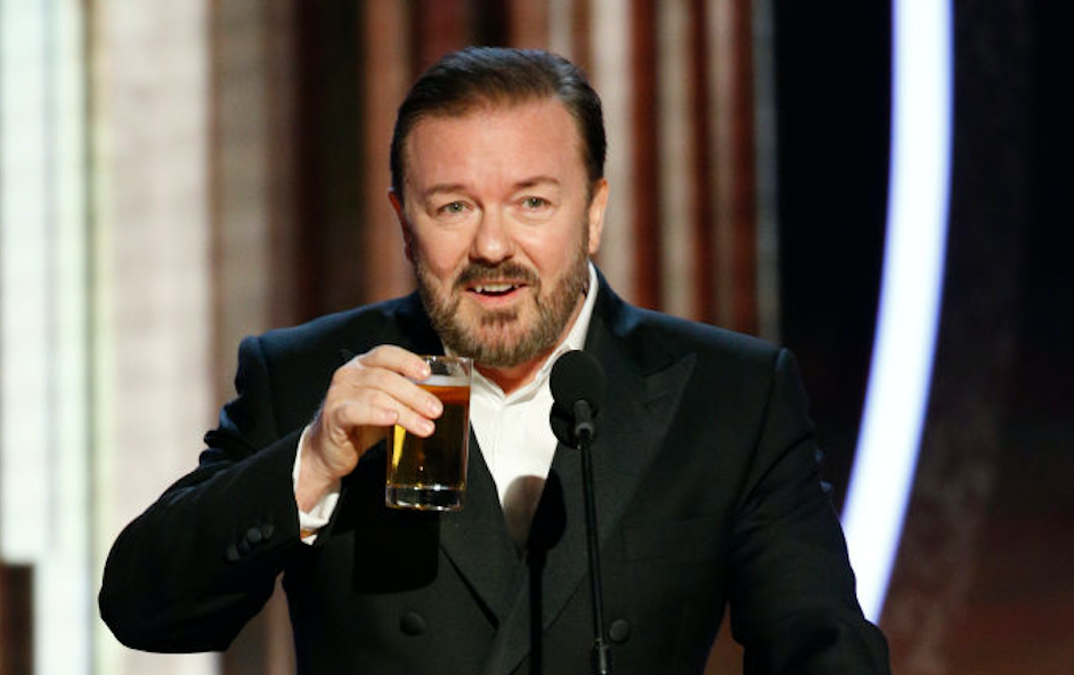 Ricky Gervais Reveals Why He Roasted 'Hollywood Liberals'