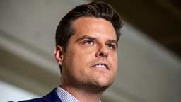 U.S. Rep. Matt Gaetz (R-FL) speaks to the media outside of the Sensitive Compartmented Information Facility (SCIF) during the continued House impeachment inquiry against President Donald Trump at the U.S. Capitol on October 30, 2019 in Washington, DC.
