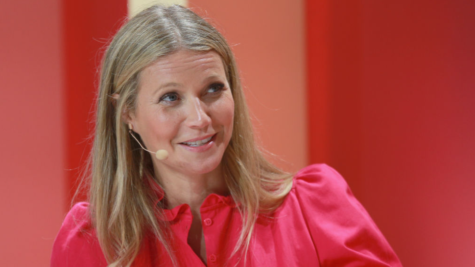 Goop founder Gwyneth Paltrow speaks on stage at the 2018 Girlboss Rally at Magic Box on April 28, 2018 in Los Angeles, California.
