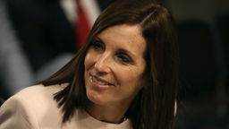 Sen. Martha McSally (R-AZ) attends the Senate Armed Services Committee confirmation hearing for Barbara M. Barrett to become Secretary of the Air Force, on Capitol Hill September 12, 2019 in Washington, DC.
