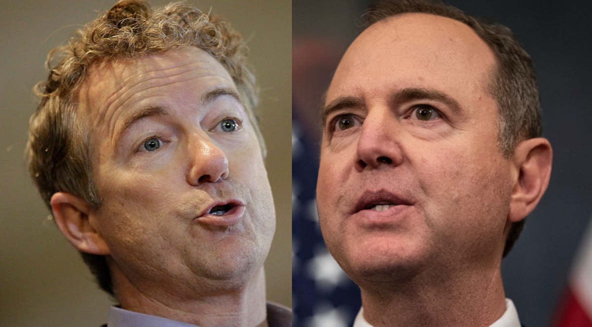 Rand Paul Trolls Adam Schiff: 'Whistleblower Informs Us That This Was Found In' Your 'Hotel Room'