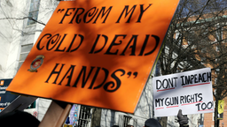 Thousands of gun rights advocates leave a rally organized by The Virginia Citizens Defense League on Capitol Square near the state capitol building January 20, 2020 in Richmond, Virginia.