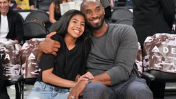 Kobe Bryant and his daughter Gianna Bryant attend a basketball game between the Los Angeles Lakers and the Atlanta Hawks at Staples Center on November 17, 2019 in Los Angeles, California.