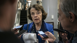 Senator Dianne Feinstein, a Democrat from California, speaks to members of the media at the U.S. Capitol in Washington, D.C., U.S., on Tuesday, Jan. 28.