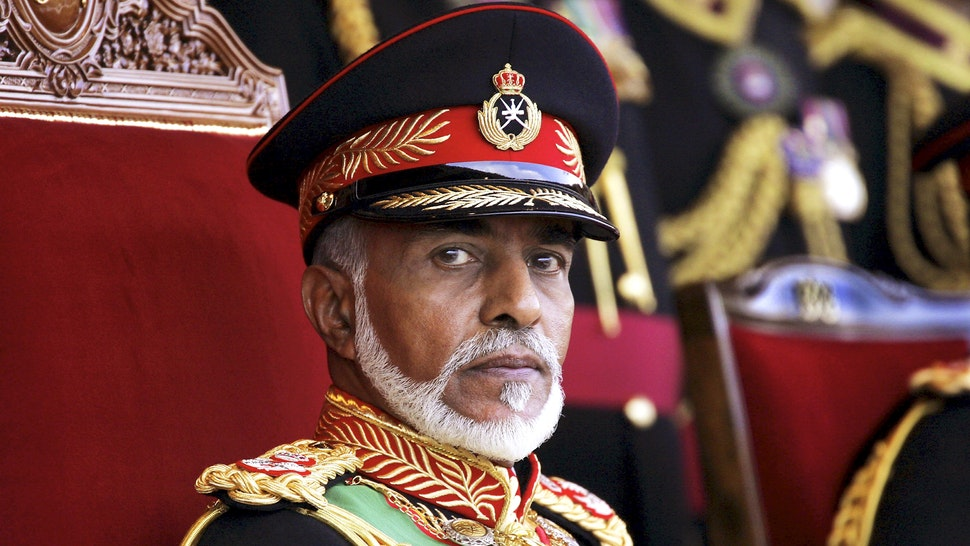 OMAN - NOVEMBER 18: Sultan Of Oman Qaboos Bin Said Presides The Military Parade At The Al Fateh Stadium For The National Day 35Th Anniversary - On November 18Th, 2005 - In Mascate (City), Oman - Here, Sultan Qaboos Bin Said