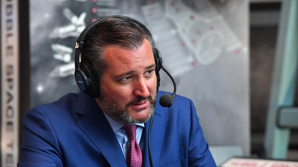 WASHINGTON, DC - JULY 17: US Senator Ted Cruz (R-TX) talks with SiriusXM host Julie Mason at The National Air and Space Museum on July 17, 2019 in Washington, DC.
