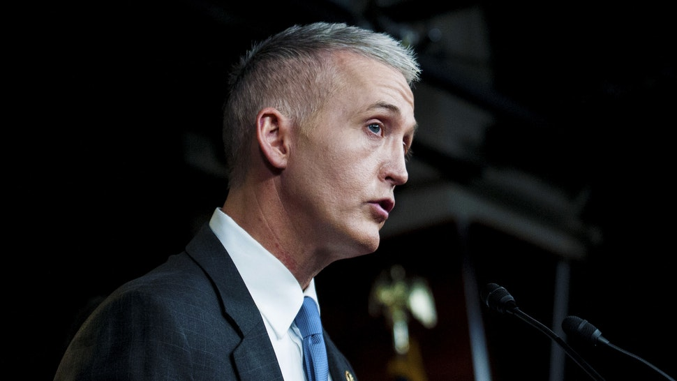 WASHINGTON, DC - MARCH 03: Chairman Trey Gowdy (R-SC) of the House Select Committee on Benghazi speaks to reporters at a press conference on the findings of former Secretary of State Hillary Clinton's personal emails at the U.S. Capitol on March 3, 2015 in Washington, D.C. The New York Times reported that Clinton may have violated the law by using a personal email account for official business at the State Department.