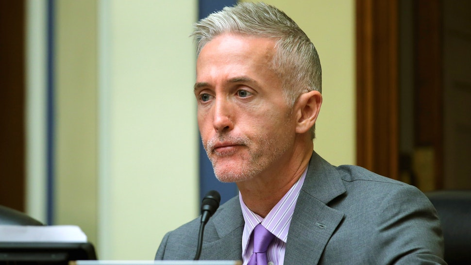 WASHINGTON, DC - NOVEMBER 03: The House Oversight and Government Reform Committee's Select Committee on Benghazi Chairman Trey Gowdy (R-SC) sports the beginnings of a beard as he questions witnesses about lapses in TSA screening in the Rayburn House Office Building on Capitol Hill November 3, 2015 in Washington, DC. Leaked to the news media earlier this year, a TSA inspector general's report found that investigators were able to slip through airport security with weapons and phony bombs more than 95 percent of the time at different airports across the country, constituting 'significant breeches,' according to Homeland Security Inspector General John Roth.