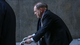 NEW YORK, NY - JANUARY 08: Harvey Weinstein leaves Manhattan court on January 8, 2020 in New York City. Weinstein, a movie producer whose alleged sexual misconduct helped spark the #MeToo movement, pleaded not-guilty on five counts of rape and sexual assault against two unnamed women and faces a possible life sentence in prison.